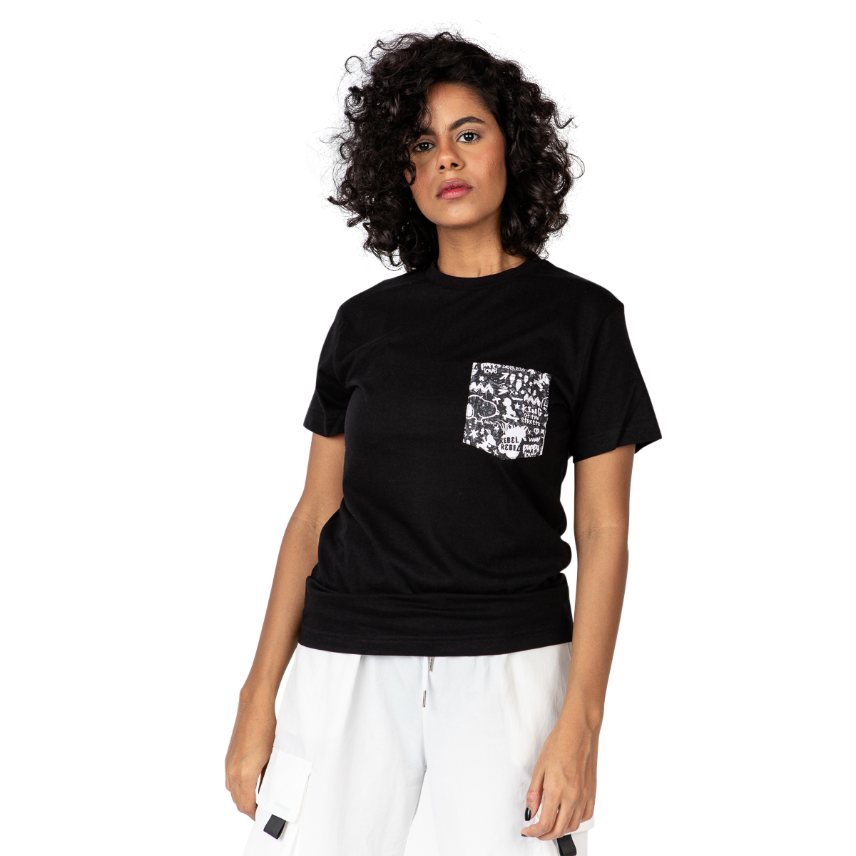 Snoopy the rebel pocket t-shirt // women