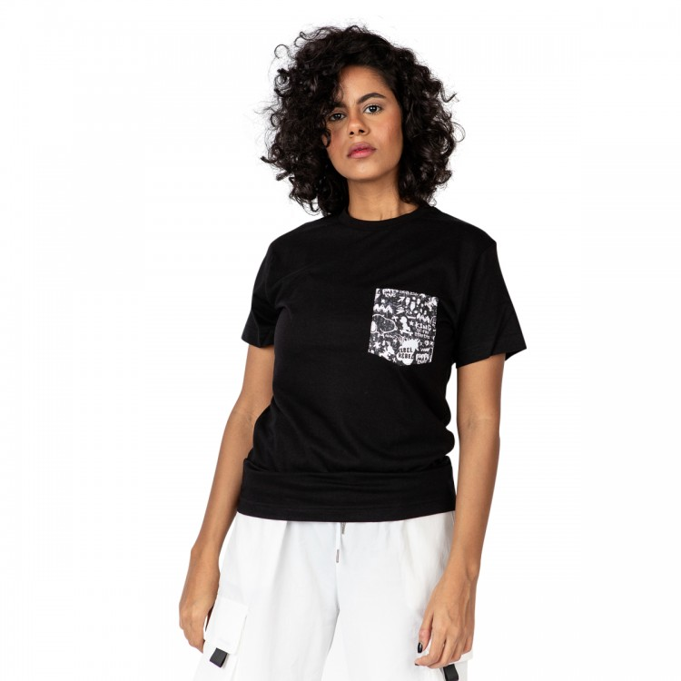 Snoopy the rebel pocket t-shirt // women