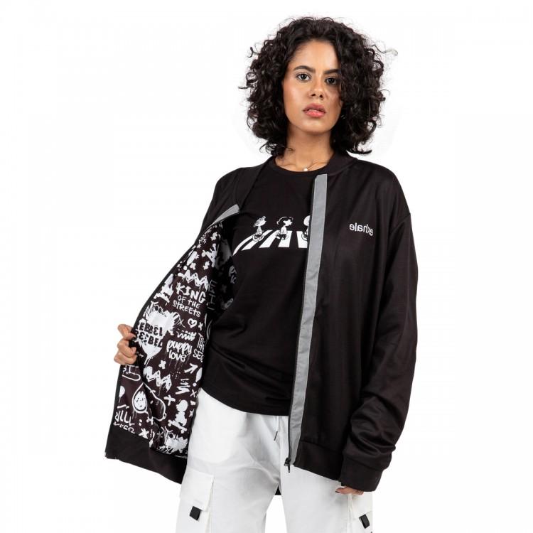 snoopy & friends bomber jacket // women