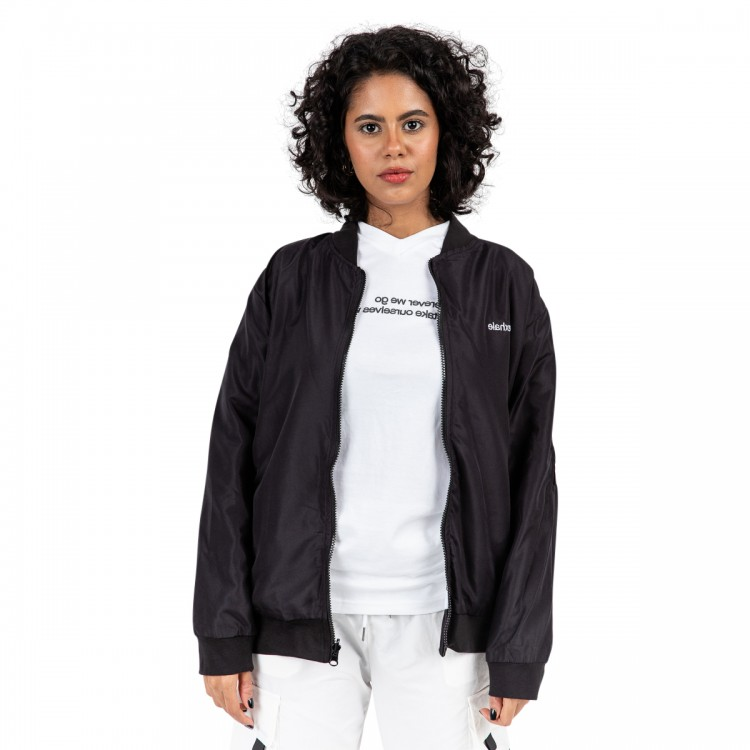 Reversible 'story of exhale' bomber jacket // women