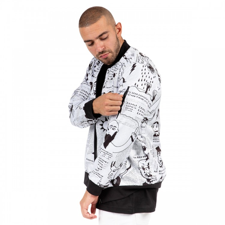 Reversible 'story of exhale' bomber jacket // men