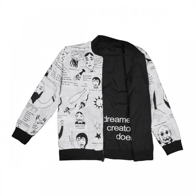 Reversible 'story of exhale' bomber jacket // unified