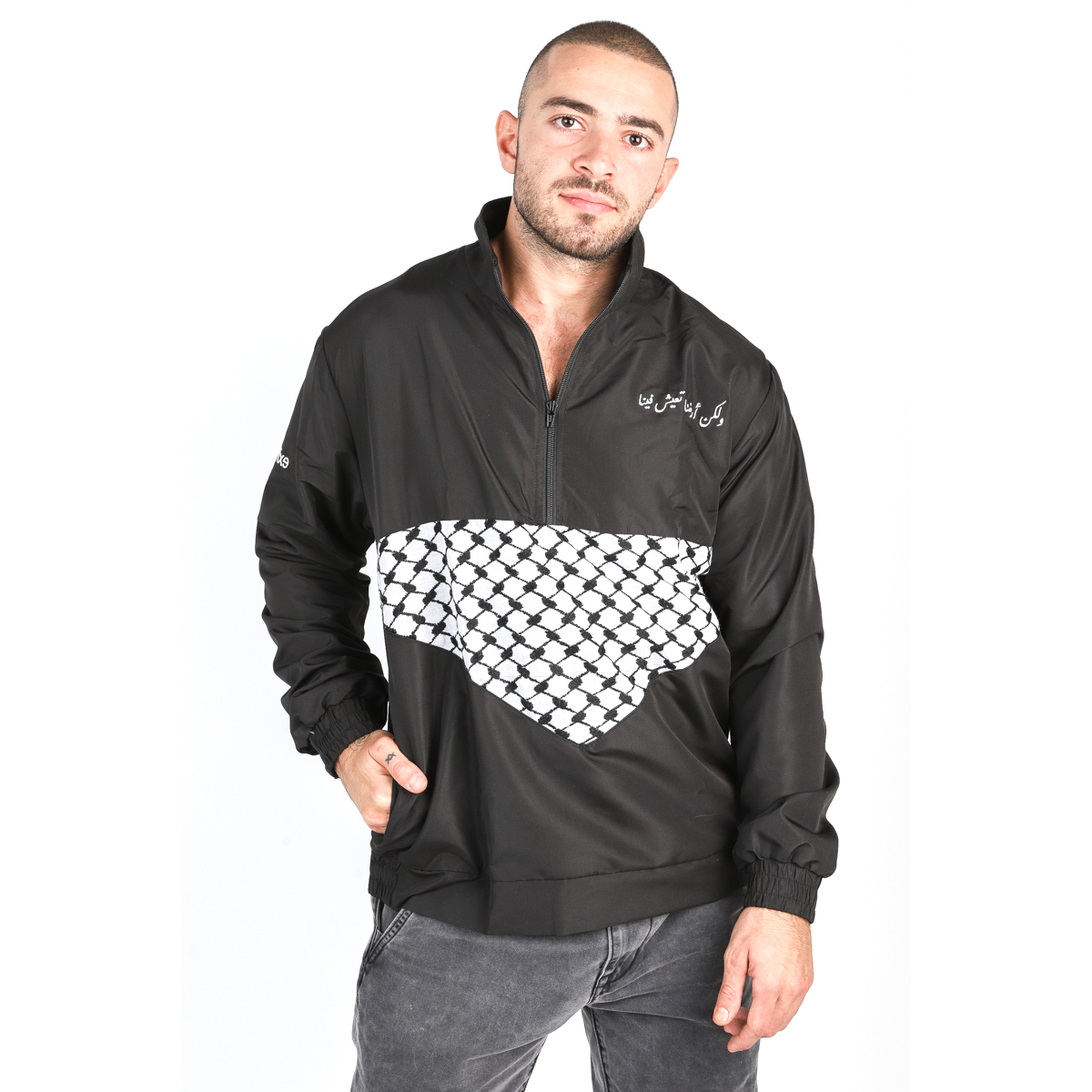 Palestine land within jacket // men